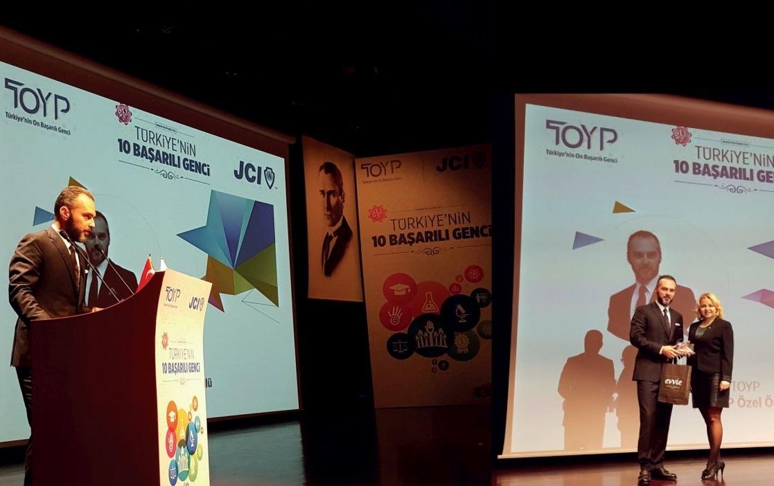 Yrd. Doç. Dr. İsmail Erkan ÇELİK  TOYP (Ten Outstanding Young  Persons Of the World) Özel Onur Ödülü Kazandı11